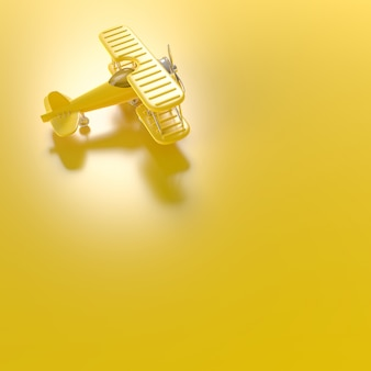Model plane,airplane toy minimal concept,  3d render.