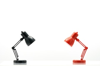 Model Reading Lamps on white background