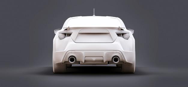 무광 플라스틱으로 만든 모델 스포츠 소형차. 시티카 쿠페. 청소년 스포츠카. 3d 그림입니다.
