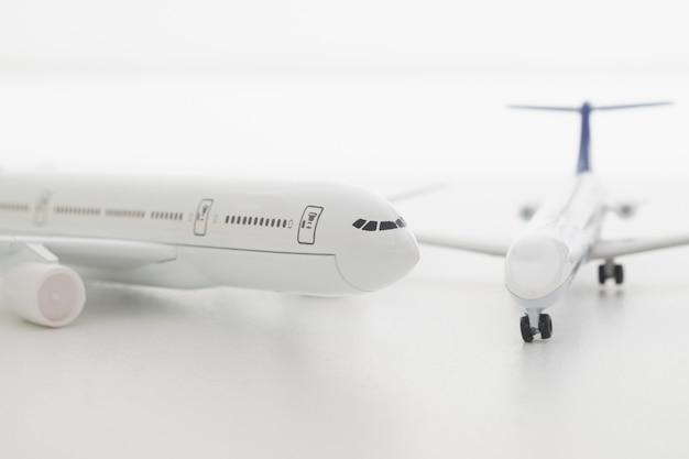 Model white air plane