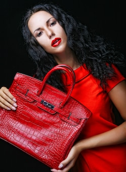 Model with bag.