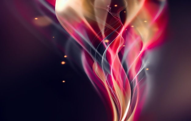 Современный абстрактный фон со светящимися волнистыми линиями