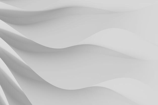 波状の白い三次元の花びらのセットの現代の抽象的なパラメトリック三次元背景