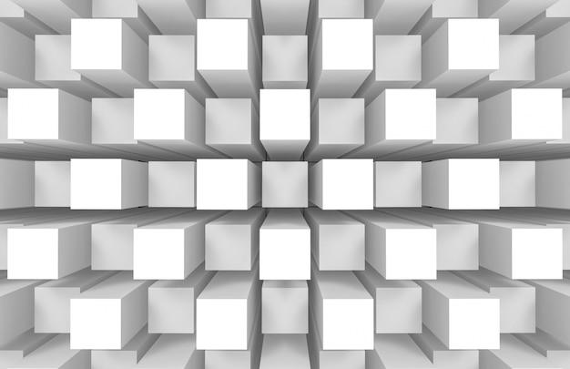 Modern abstract random square cube box bar stack wall