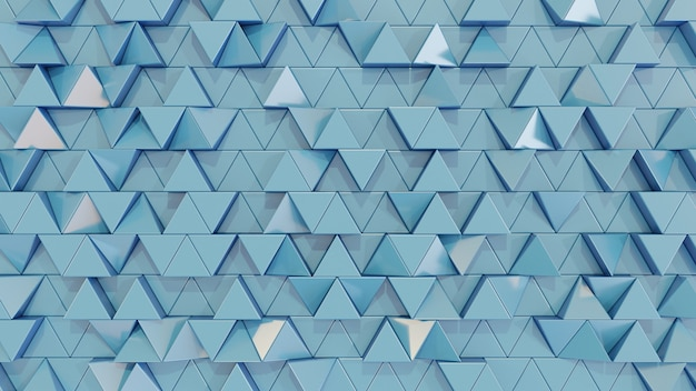 Modern abstract triangle tile wall