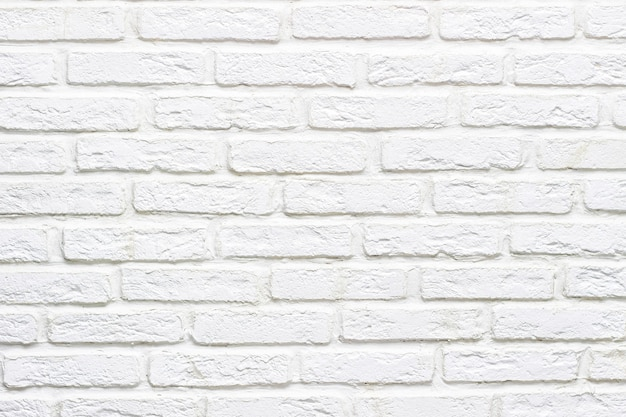 Modern abstract white brick wall textured background for text or design. close up