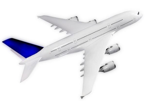 흰색 배경에 고립 된 현대 비행기입니다.