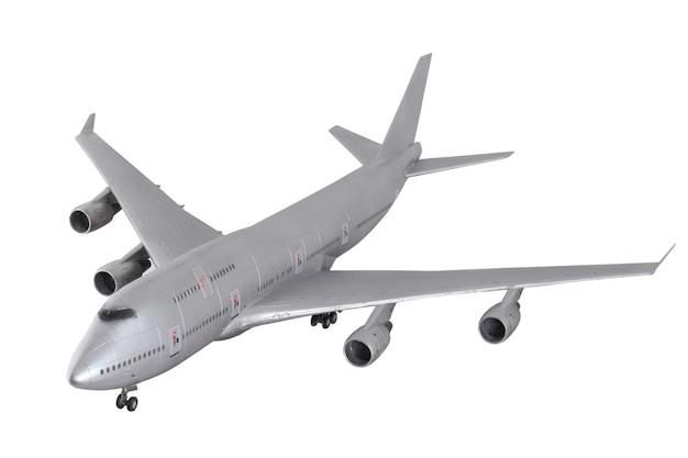 白い背景で隔離の現代の飛行機。