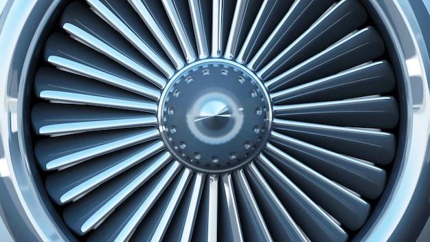 현대 비행기 제트 엔진 터빈