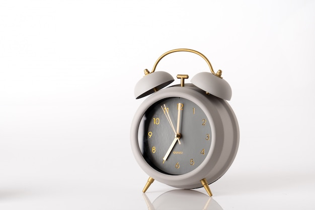 Modern alarm clock, business concept time management
