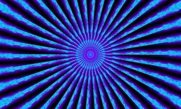 テクノロジーに最適なモダンで未来的な抽象的なデジタルネオン背景万華鏡パターン。