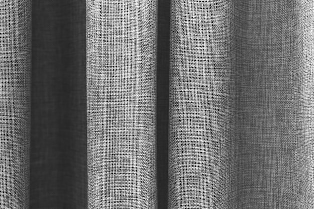 Modern apartment curtain close-up, indoors interior background pattern photo