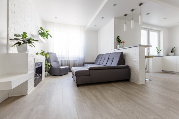 Modern apartment with open living room