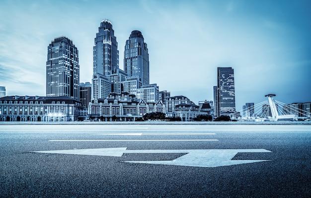 Modern architectural landscape and urban skyline