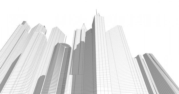 아름다운 대도시의 현대 건축