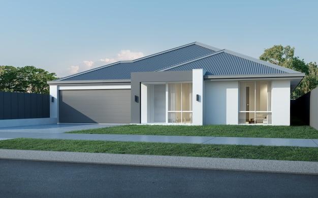 ガレージ付きのモダンなオーストラリアの家