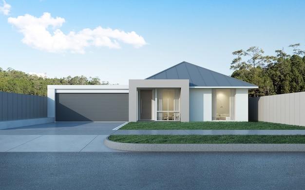Modern australian house with garage