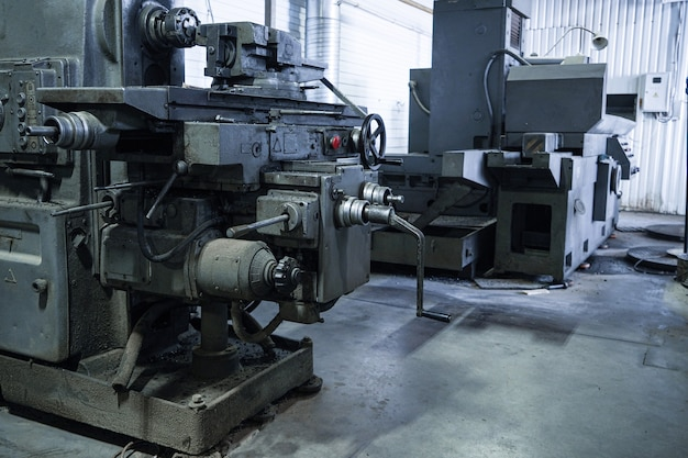 Modern automated factory for the manufacture, processing and milling of metal parts, pipes and spares