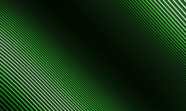 Modern background with distorted green carbon fiber material