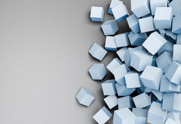 Современный фон с геометрическими кубиками