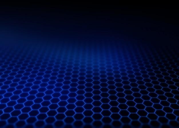 Современный фон с шестигранной сеткой, уходящей вдаль Бесплатные Фотографии