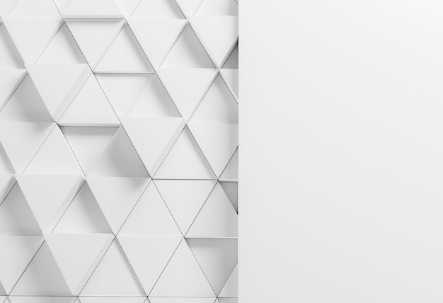Modern background with white triangles