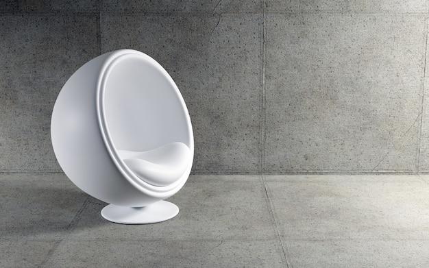 Modern ball chair. 3d render