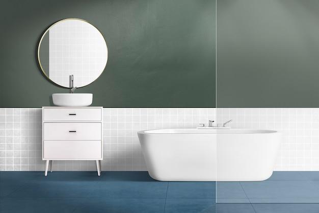 현대적인 욕실 정통 인테리어 디자인