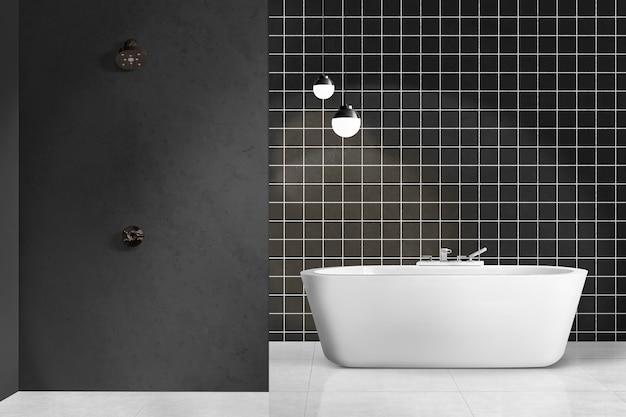 Современная ванная комната в аутентичном дизайне интерьера