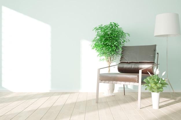 Современная красивая комната дизайн интерьера 3d иллюстрации