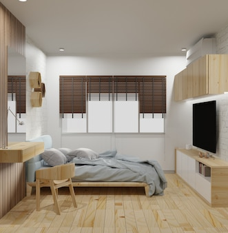 Modern bed room interior