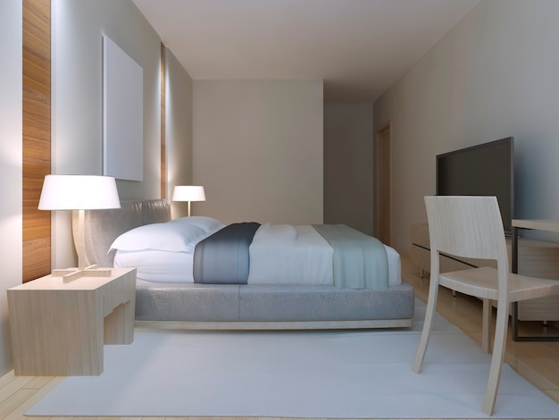 Modern bedroom design with master bed