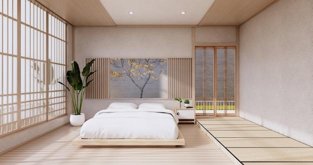 현대 침실 - 일본 style.3d 렌더링