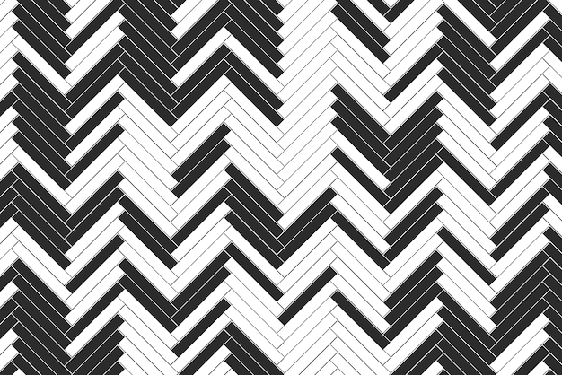 Modern black and white brick blocks sorted in zig zag style pattern background.