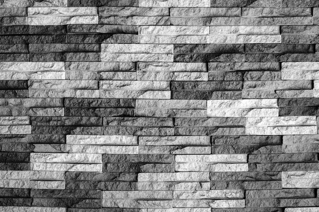 Modern black and white brick wall