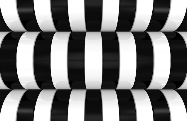 Modern black and white curve pattern background