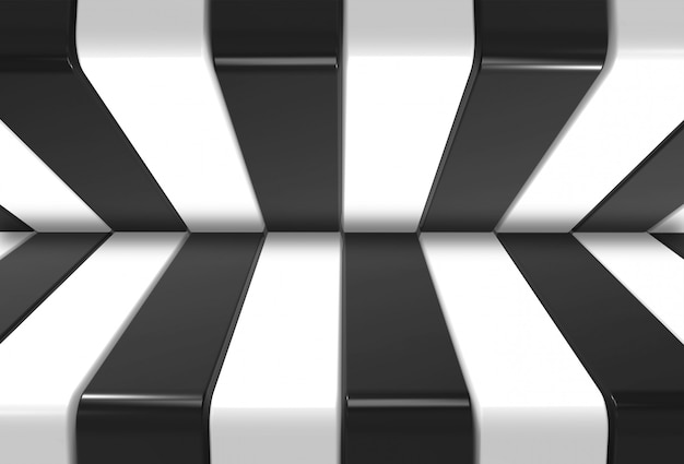Modern black and white pattern background