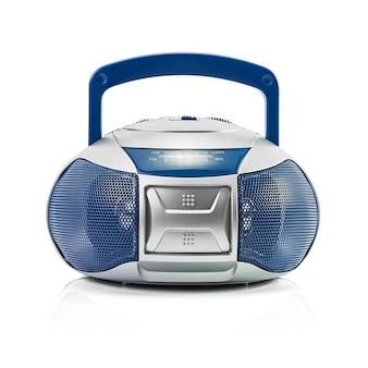 Современное синее радио, изолированные на белом фоне