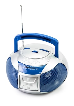 Современное синее радио изолированные