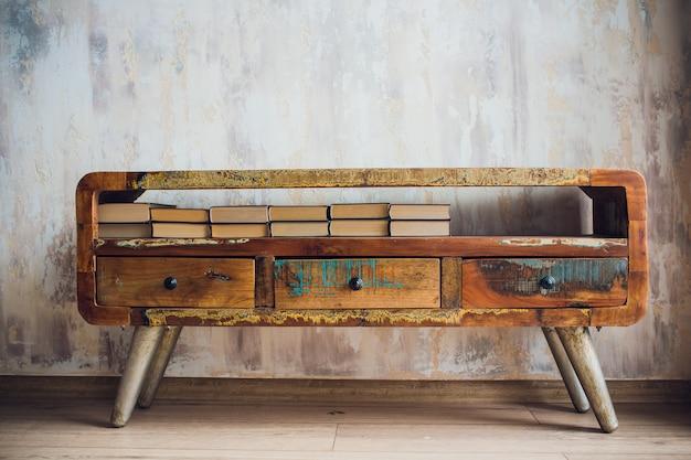 モダンな本棚と本棚の装飾壁紙とカーペットのデザイン
