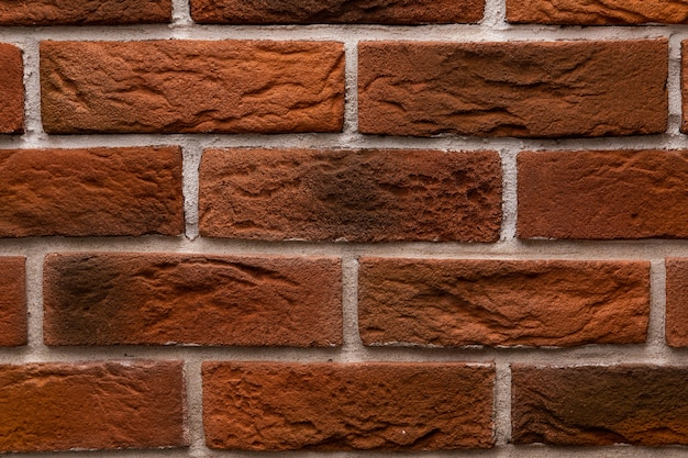 Modern brick wall texture close up