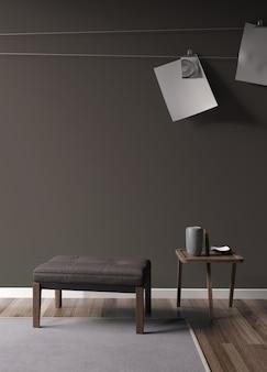 Modern bright interior with beautiful decoration