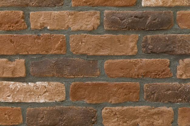 モダンな茶色のレンガの壁のテクスチャ背景
