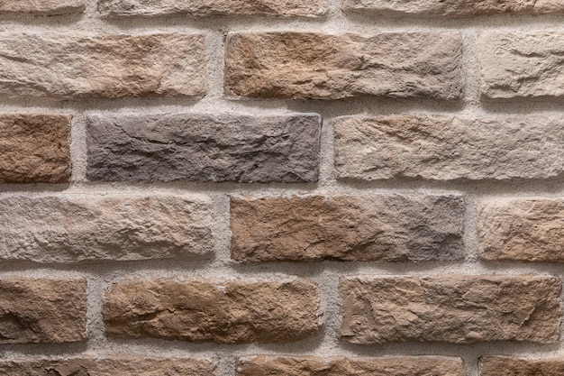 Modern brown brick wall texture