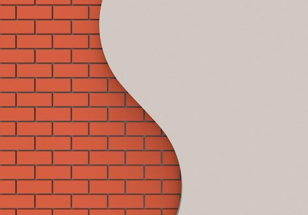 Modern brown bricks wall behide cruve copy space background.