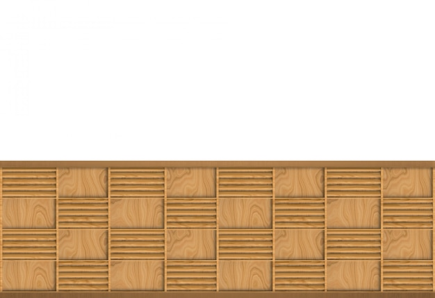 Modern brown wood square frame