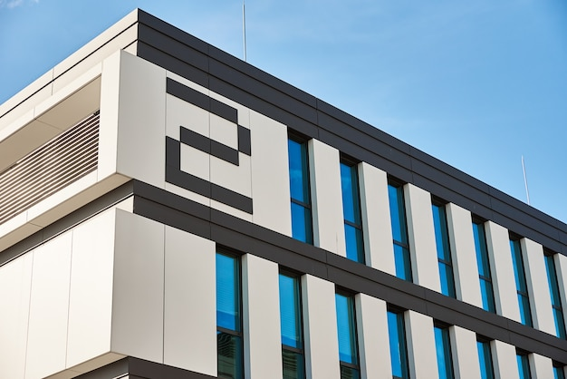 Modern building facade with windows