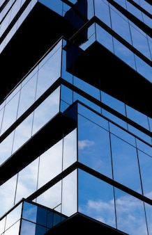 Modern building in a glass facade