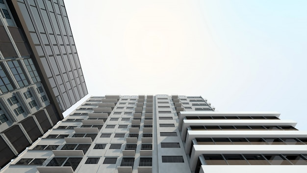 Modern building for property and real estate investment