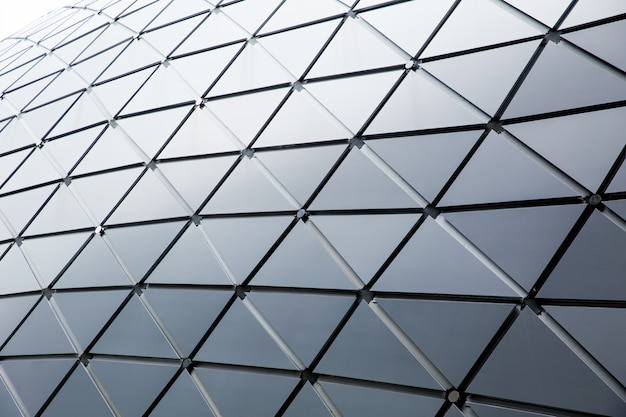 Modern building triangle geometry style roof design architecture background